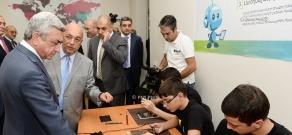Armenian President Serzh Sargsyan attends the opening ceremony of Gyumri Information Technologies Center