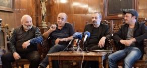 Press conference of actors Tigran Gasparyan, Armen Marutyan and Albert Safaryan
