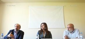 Обсуждение с участием журналиста Марка Григоряна, политолога Александра Искандаряна и Наиры Варданян