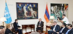 Armenian Foreign Minister Edward Nalbandian meets UNDP Administrator Helen Clark