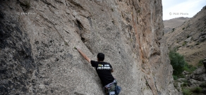 Rock climbing in Hell's Gorge