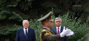 Welcoming ceremony for President of Greece President Karolos Papoulias