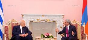 RA President Serzh Sargsyan receives Greece President Karolos Papoulias