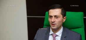 Press conference of Arman Barseghyan, Retail Banking Director of  Ameriabank CJSC