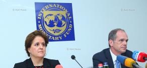 Press conference of IMF Resident Representative in Armenia Teresa Daban Sanchez and IMF Mission Chief to Armenia Mark Horton