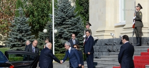 Official farewell ceremony of Greece President Karolos Papoulias