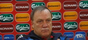 Press conference of Dick Advocaat, head coach of Serbian football team