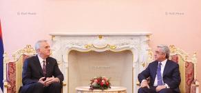 RA President Serzh Sargsyan receives Serbian President Tomislav Nikolić