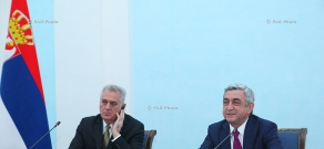 Joint press conference of Armenian President Serzh Sargsyan and  Serbian President Tomislav Nikolić