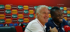 Press conference of Didier Deschamps, coach of the French National Football team