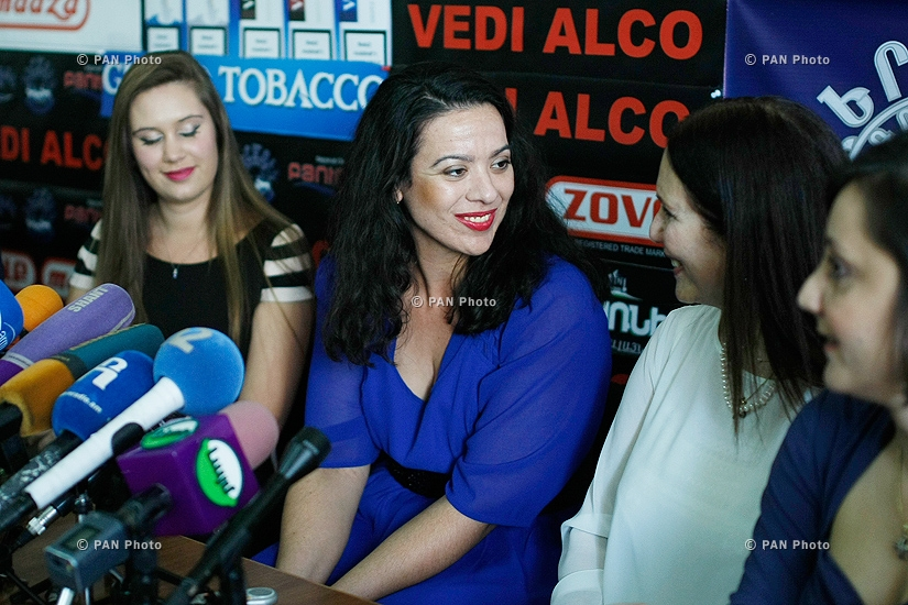 Press conference of famous opera singer Arax Mansourian and her three Greek, Chinese and Australian students