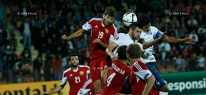 Friendly soccer match between Armenia and France