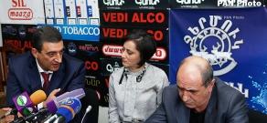 Press conferenc eof Vardan Ayvazyan and Garnik Isagulyan