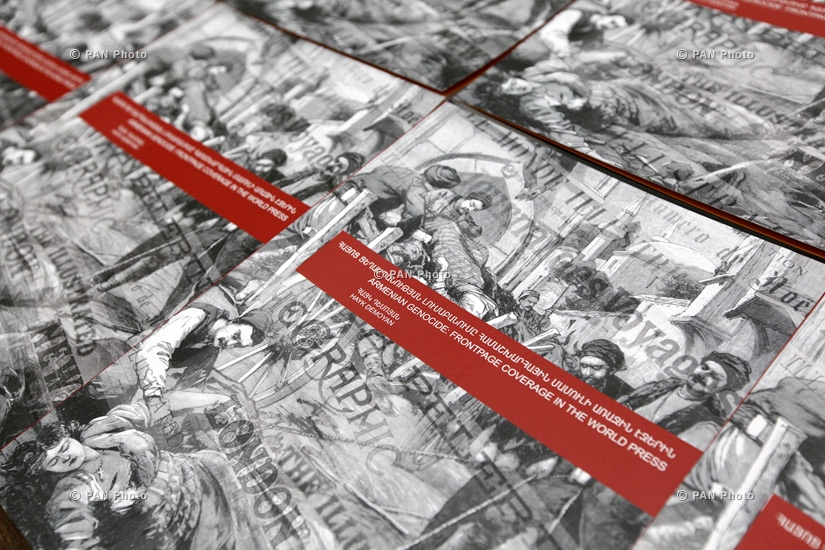 Presentation of Armenian Genocide: Frontpage Coverage in the World Press book by Genocide Museum Director Hayk Demoyan