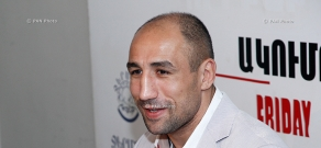 Press conference of boxer Arthur Abraham