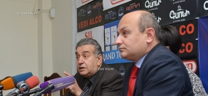 Press conference of Rafik Petrosyan and Stepan Safaryan