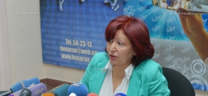 Press conference of representative of the Armenian meteorological service Zaruhi Petrosyan