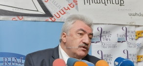 Press conference of director of National Archives of Armenia Amatuni Virabyan