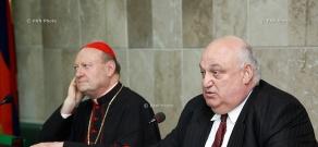 President of the Pontifical Council for Culture (Vatican) Cardinal Gianfranco Ravasi visits YSU
