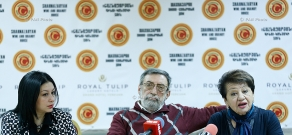 Press conference of Nikolay Tsaturyan, Hasmik Kirakosyan and Marianna Mamyan