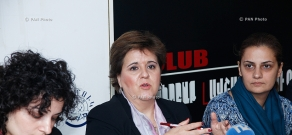 Press conference of IMF Resident Representative in Armenia Teresa Daban Sanchez