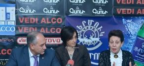 Press conference of Sukias Avetisyan and Anahit Bakhshyan