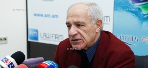 Press conference of the head of Architects' Union Mkrtich Minasyan