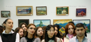 RA Gvot.: PM Hovik Abrahamyan attends opening of exhibition-contest of young artists