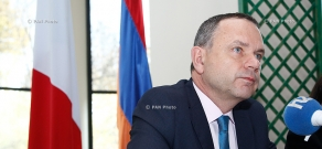 Press conference of Newly appointed French Ambassador to Armenia Jean-François Charpentier
