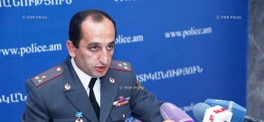 Press conference of Head of the Police Internal Security Department Armen Hakobyan,