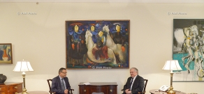 Armenian Foreign Minister Edward Nalbandyan receives  Newly appointed French Ambassador to Armenia Jean-François Charpentier