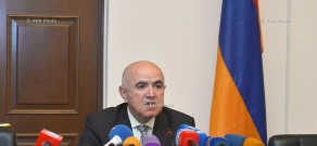 Press conference of Armenian State Migration Agency Head Gagik Yeganyan