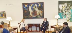 ԱԳ նախարար Էդվարդ Նալբանդյանը ընդունել է Սլովենիայի նորանշանակ դեսպան Նատաշա Պրահին