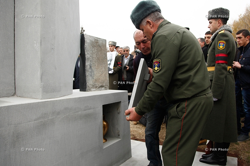 Commander Sepuh's remains brought to Yerablur Military pantheon