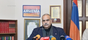 Press conference of Heritage party's leader Raffi Hovannisian