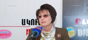 Press conference ANC deputy Lyudmila Sargsyan