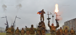 Ceremony dedicated to secret-service agents' day and Armenian armed forces intelligence subdivisions formation anniversary