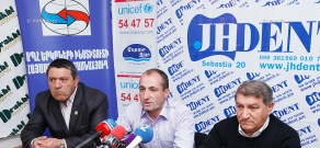 Press conference of Vardan Tovmasyan, Vanik Mkhitaryan and Roman Sahradyan
