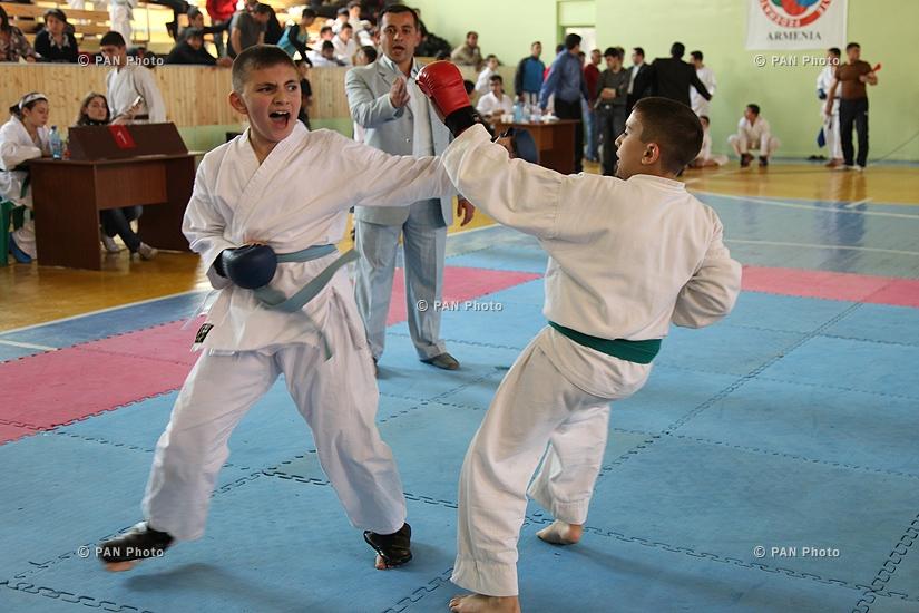 Karate Tournament between teams of Armenia, Iran and Georgia