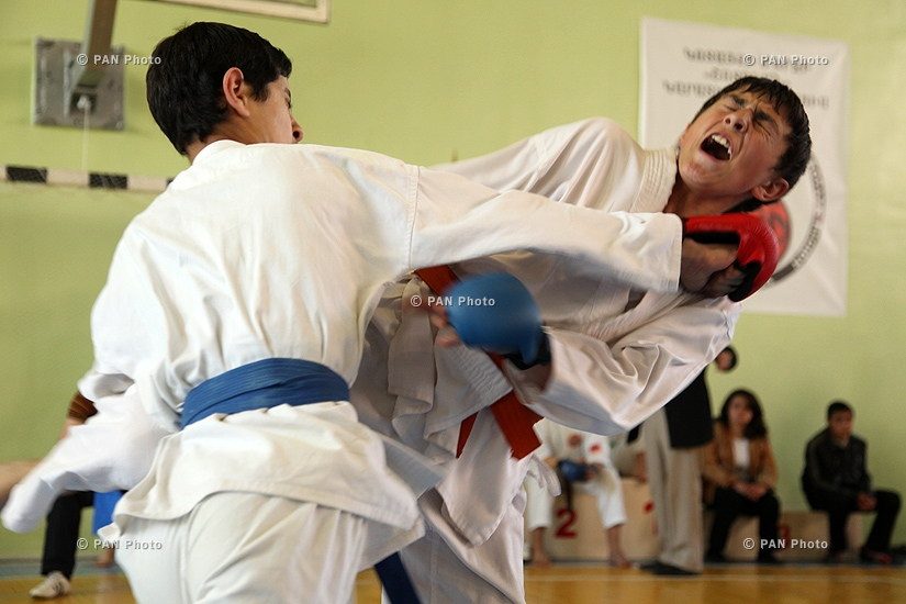 Karate Tournament between teams of Armenia, Iran and Georgia