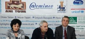 Press conference of 'Rights and Support' Foundation's members Gagik Sarukhanyan, Tigran Khzmalyan and Syuzan Simonyan