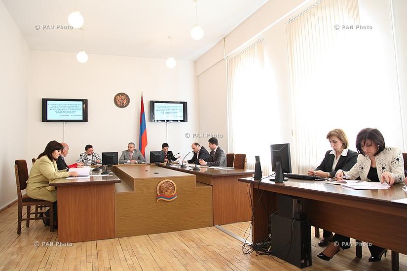Заседание Центральной избирательной комиссии Армении