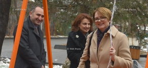 Opening of an inclusive swing for disabled children at the Yerevan Zoo
