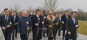 Delegation of European Jewish Parliament (EJP) visits Tsitsernakaberd memorial