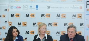 """Joint press conference of """"Stop Violence against Women"""" Coalition and U.S ambassador to Armenia John Heffern"""