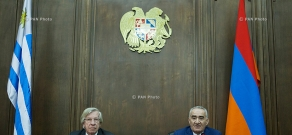 Joint press conference of Vice President of Uruguay, President of the Senate Danilo Astori and Speaker of  RA National Assembly Galust Sahakyan