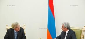 Armenian President Serzh Sargsyan receives Vice President of Uruguay, President of the Senate Danilo Astori