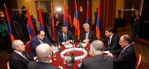 Roundtable discussion between ombudsman Karen Andeasyan and 7 officials