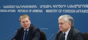 Joint press conference of Minister of Foreign Affairs of Armenia Edward Nalbandyan and Minister of Foreign Affairs of Latvia Edgars Rinkēvičs