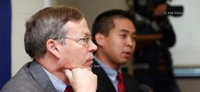 Press conference of U.S. Consul in Armenia Frank Tu and  U.S ambassador to Armenia John Heffern